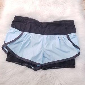 Lululemon Speed Squad Shorts Caspian Blue Coal